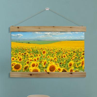 tl674-우드스크롤_60CmX40Cm-드넓은해바라기꽃밭