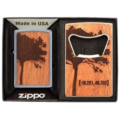 ZIPPO 49066 WOODCHUCK USA & Bottle Opener Gift Set