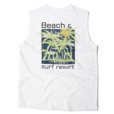 남성 남자 여름 데일리 반팔 티셔츠 비치 나시 민소매