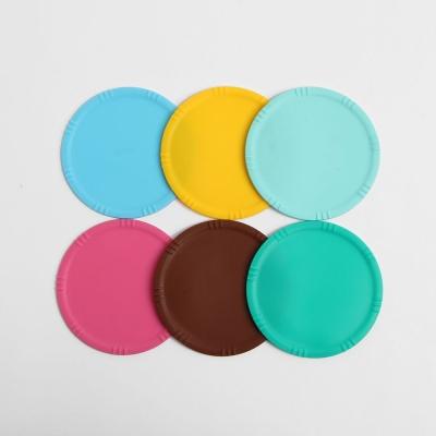 실리콘 컵받침 6p세트 컵덮개 커피잔받침 찻잔받침