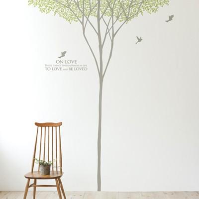 숲이야기(나무1그루) (반제품B)  그래픽스티커 포인트 시트지 인테리어 스티커