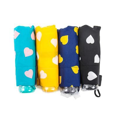[더로라]휴대용 우산- 5단 접는 우산 -롤리 하트 e540