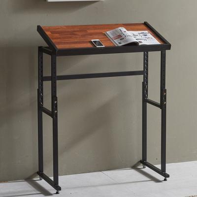 심플라인 철제 멀바우 원목 테이블 840