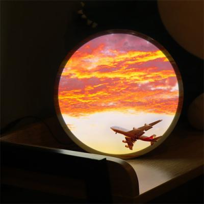 nh730-LED액자25R_노을하늘아래비행