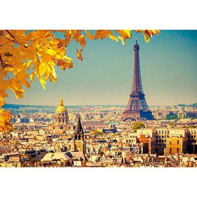 1000조각 목재 직소퍼즐▶ 가을이 물든 파리 에펠탑 [WPK1000-09]