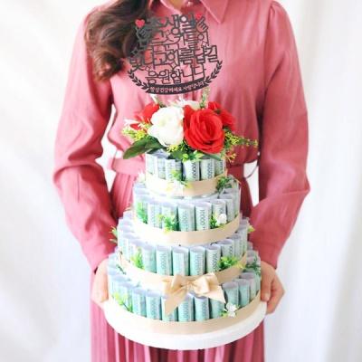 DIY 용돈 케이크 4단