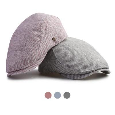 [디꾸보]린넨 줄지 썸머 헌팅캡 모자 HN640