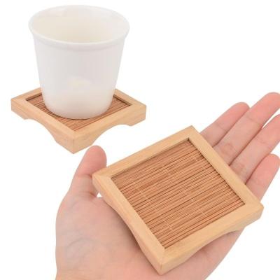 대나무 사각 우드 티코스터 인테리어컵받침 컵받침