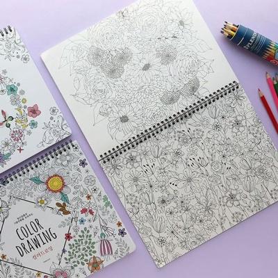 색칠 놀이 노트 컬러 드로잉 컬러링북 미술 그림북