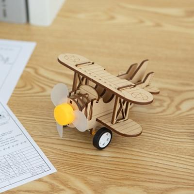 [두날개 비행기] DIY 어린이 코딩 조립 나무 장난감