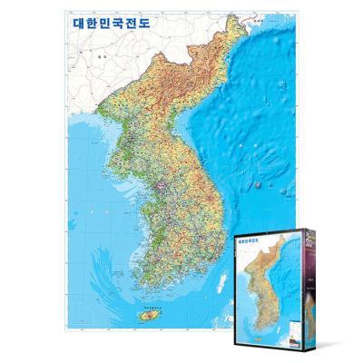 500피스 직소퍼즐 - 대한민국전도