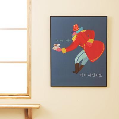 카페뮤제오 포스터 커피대령이요 by 이철민 작가