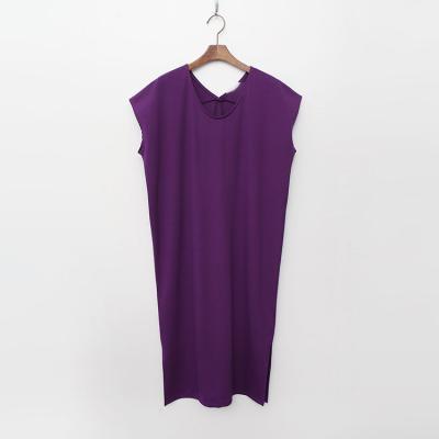 Cotton U-Neck Long Dress