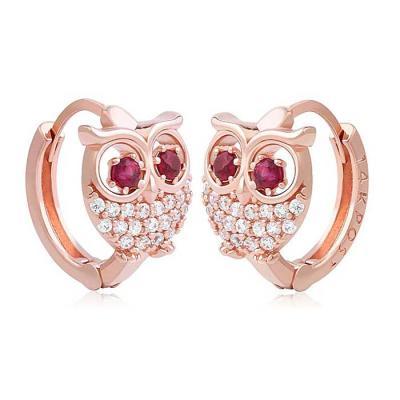 OWL 원터치 링귀걸이 14K금침 rose gold 2color