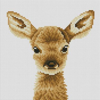 아기사슴 밤비 (캔버스형) 보석십자수 25x25