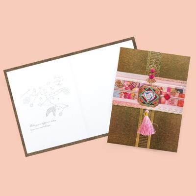 연분홍 자수카드 FT3005-5
