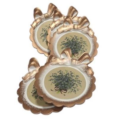 봉쥬르리본컵 그린 야생화컵받침세트(5P) 주방용품