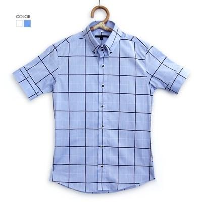 [베네]시원 네모 반팔 셔츠
