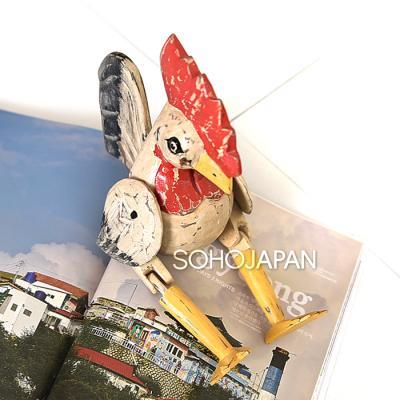 우드 관절 닭 장식
