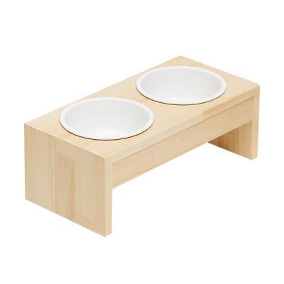 퍼피노 펫블리 2인 도자기원목식탁 bs051