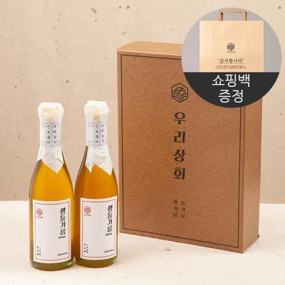 [우리상회]국내산 생들기름300ml x 2개 선물세트