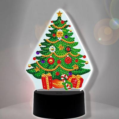 크리스마스 트리 diy 십자수 무드등 어린이보석십자수