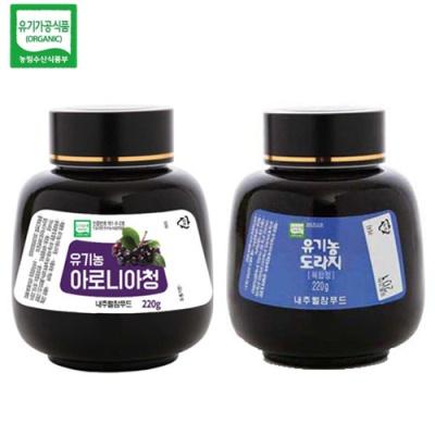 [유기가공인증] 아로니아청 220g+도라지 복합청 220g