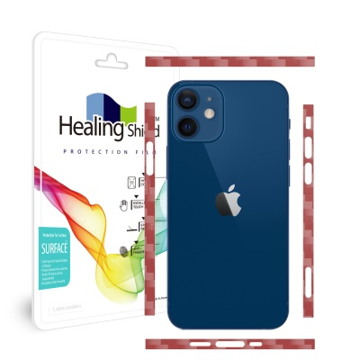 아이폰12 카본와인 측면테두리 보호필름 1세트