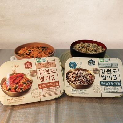 강원도 유기농 더덕비빔밥210g+감자비빔밥210g