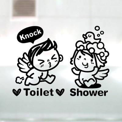 아기천사_toilet_shower [포인트스티커/화장실스티커/욕실스티커]