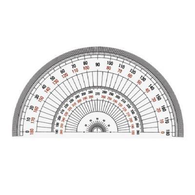 반원분도기 18cm(P-18) (스모키)(개) 259713