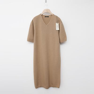 Laine Cashmere Wool V-Neck Dress - New