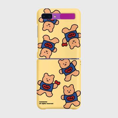 Bear heart-creamyellow(Z플립-하드)