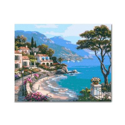 DIY 보석십자수 - 바닷가마을 BH29 (50x40)