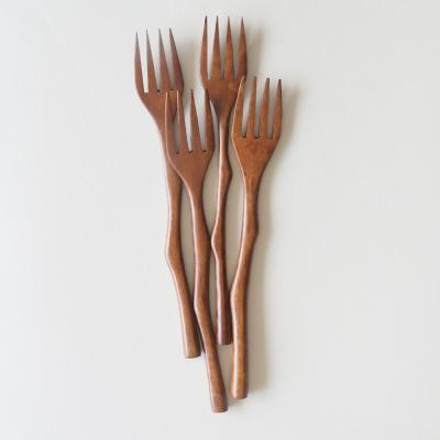 롬우드 로즈원목 나뭇가지 포크