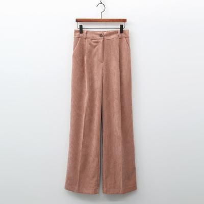 Corduroy Pintuck Wide Pants
