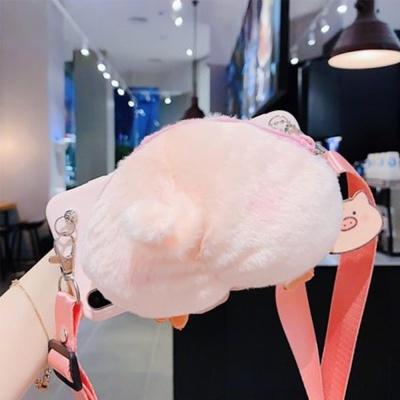 갤럭시노트8 돼지 스트랩 카드 지갑형 실리콘 케이스