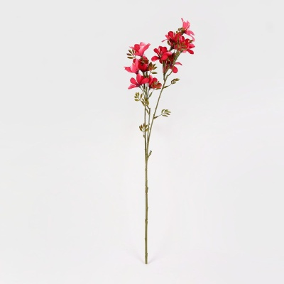 순수꽃 부쉬 조화 레드 조화장식 인테리어꽃 인조꽃