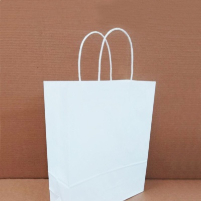 백색 무지크라프트 트위스트 종이쇼핑백(중) 50매