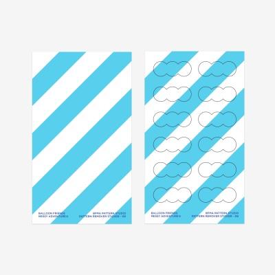 벌룬프렌즈 리무버블 패턴 스티커 - 스트라이프