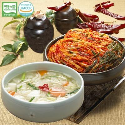 [명가김치] 국내산 포기김치 5kg+나박물김치 5kg