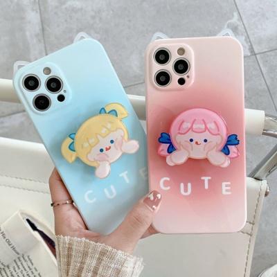 아이폰 12 11 pro max 고양이 귀 소녀 그립톡 케이스