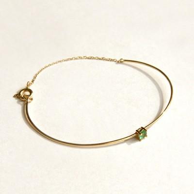 14k gold emerald bracelet