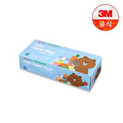 [3M]라인프렌즈 후레쉬 슬라이드지퍼백(소)