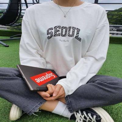 시티맨투맨 긴팔 가을겨울 캐주얼 편안함 티셔츠