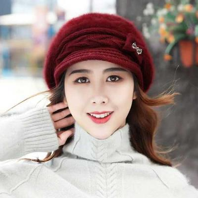 Mujer Invierno knit 리본 챙모자 6color CH1651612