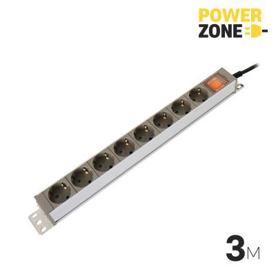 [파워존] 메인일반 알루미늄멀티탭 8구 3M