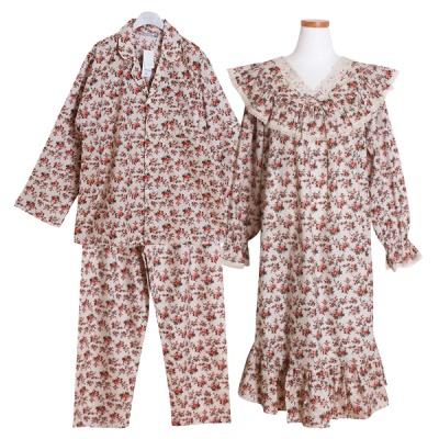 [쿠비카]플라워 V넥 레이스 원피스 커플잠옷 WM237