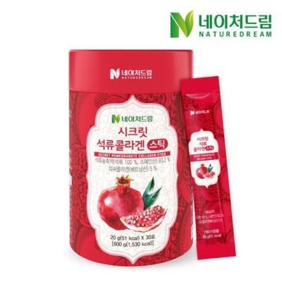 네이처드림 시크릿 석류콜라겐젤리스틱 20g*30포
