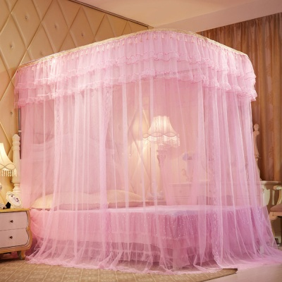 스위트룸 침대모기장(150x200cm)(핑크)/사각모기장
